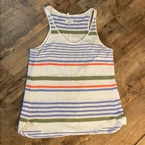 Lou & Grey stripped racer back tank